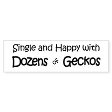 Single & Happy With Geckos Bumper Bumper Sticker