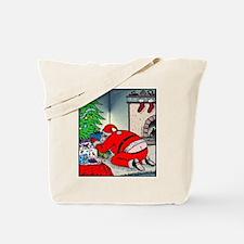 Santa's Butt crack Tote Bag