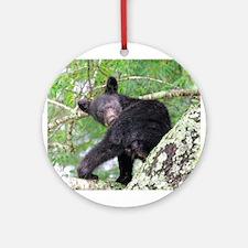 Bear Cub - Lookin' Back Ornament (Round)