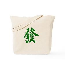 Mahjong Green Dragon Tote Bag