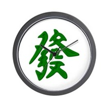 Mahjong Green Dragon Wall Clock