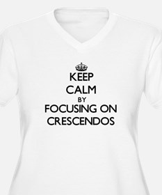 Keep Calm by focusing on Crescen Plus Size T-Shirt