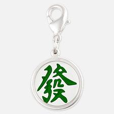 Mahjong Green Dragon Charms