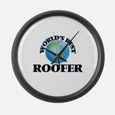 World's Best Roofer Large Wall Clock