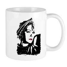 Greta in Black and White Mugs