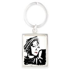 Greta in Black and White Keychains