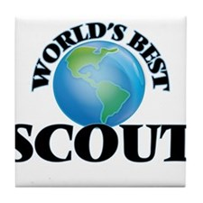World's Best Scout Tile Coaster