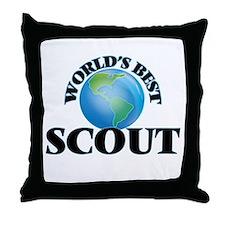 World's Best Scout Throw Pillow