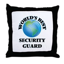 World's Best Security Guard Throw Pillow