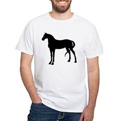 Horse Silhouette White T-Shirt