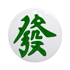 Mahjong Green Dragon Ornament (Round)