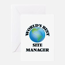 World's Best Site Manager Greeting Cards