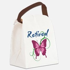 Retired (Butterfly) Canvas Lunch Bag