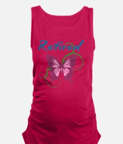 Retired (Butterfly) Maternity Tank Top