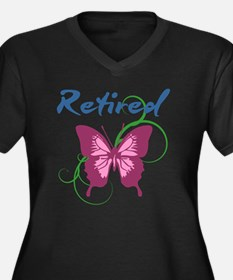 Retired (Butterfly) Plus Size T-Shirt