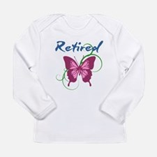 Retired (Butterfly) Long Sleeve T-Shirt