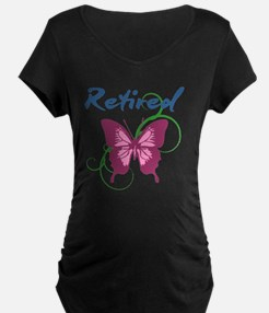 Retired (Butterfly) Maternity T-Shirt