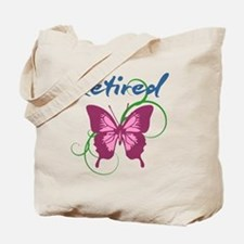 Retired (Butterfly) Tote Bag