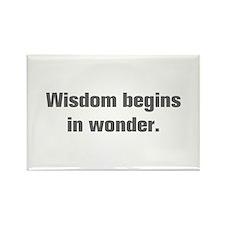 Wisdom begins in wonder Magnets