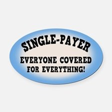 Everyone Covered Oval Car Magnet