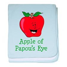 Apple of Papou's Eye baby blanket