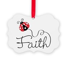 Ladybug Faith Ornament