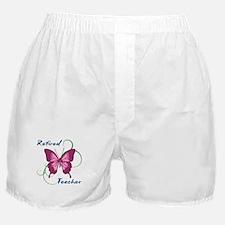Retired Teacher (Butterfly) Boxer Shorts