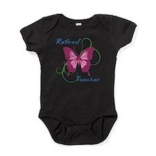 Retired Teacher (Butterfly) Baby Bodysuit