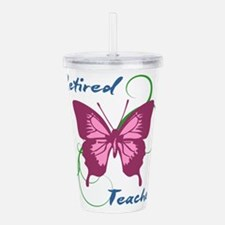 Retired Teacher (Butte Acrylic Double-wall Tumbler