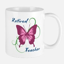 Retired Teacher (Butterfly) Mugs