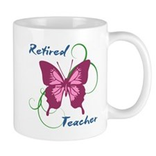 Retired Teacher (Butterfly) Mugs