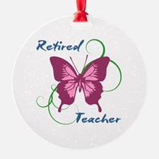 Retired Teacher (Butterfly) Ornament