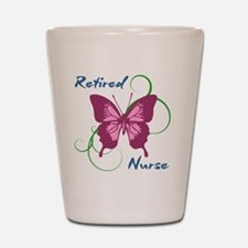 Retired Nurse (Butterfly) Shot Glass