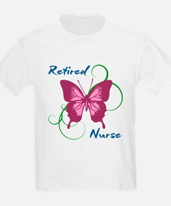 Retired Nurse (Butterfly) T-Shirt
