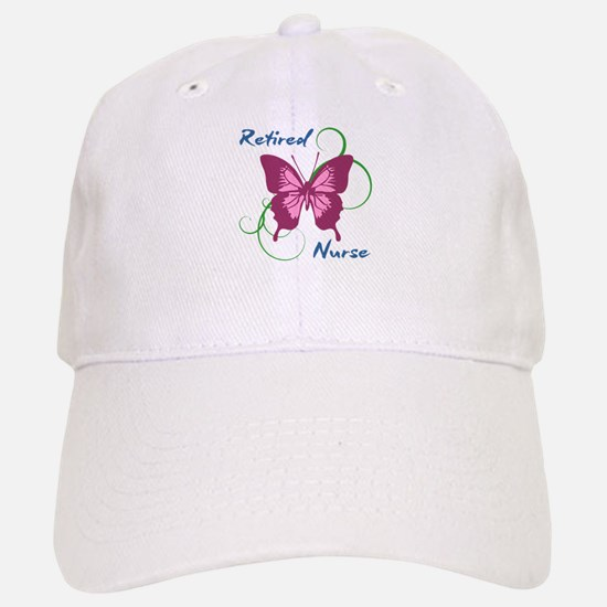 Retired Nurse (Butterfly) Baseball Baseball Cap