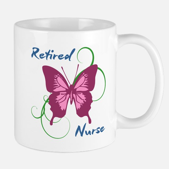 Retired Nurse (Butterfly) Mugs