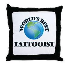 World's Best Tattooist Throw Pillow