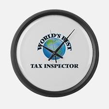 World's Best Tax Inspector Large Wall Clock
