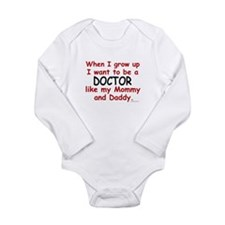 Cute Kids professions Long Sleeve Infant Bodysuit