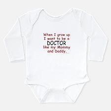 Unique Doctors Long Sleeve Infant Bodysuit