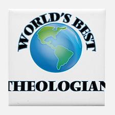 World's Best Theologian Tile Coaster