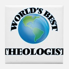 World's Best Theologist Tile Coaster