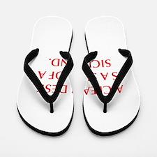 A CLEAN DESK IS A SIGN OF A SICK MIND Flip Flops