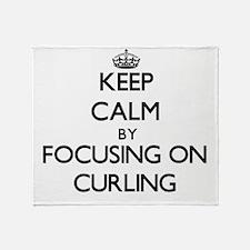 Keep Calm by focusing on Curling Throw Blanket