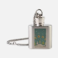 Flying Spaghetti Monster Flask Necklace