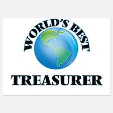 World's Best Treasurer Invitations