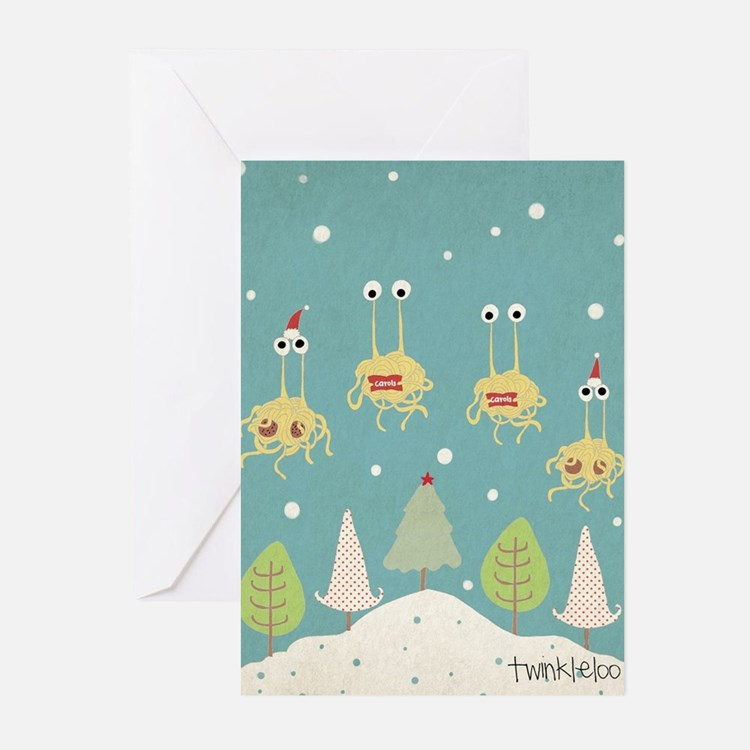 Flying Spaghetti Monster Greeting Cards