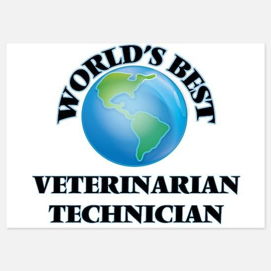 World's Best Veterinarian Technician Invitations