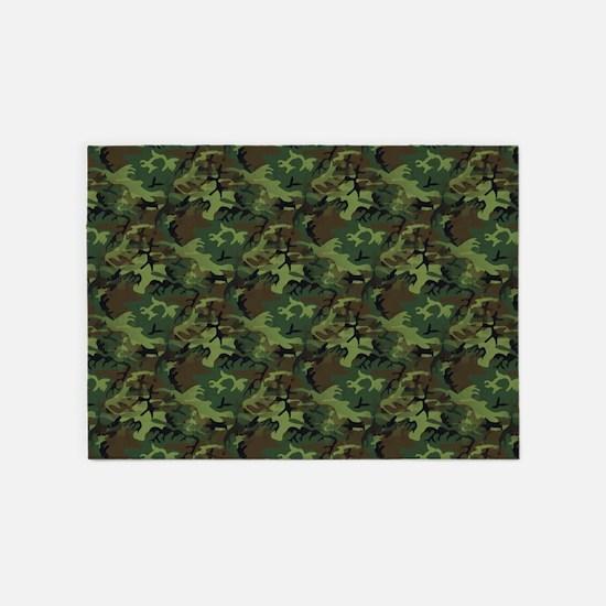 Camouflage 5'x7'area Rug