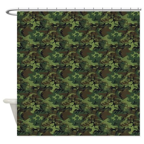 Camouflage Shower Curtain By Expressivemind